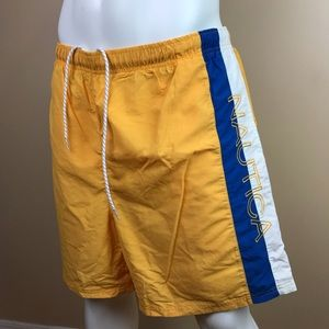 Nautica Spell Out Mesh Lined Swim Trunks Size 2XL